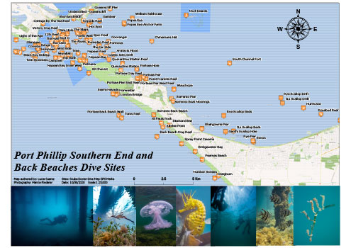 Port Phillip Southern End and Back Beaches Dive Sites