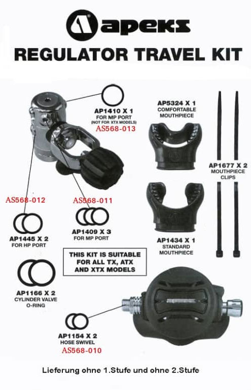 Apeks Regulator Travel Kit