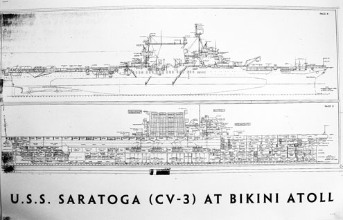 Plans of aircraft carrier USS Saratoga (CV-3).