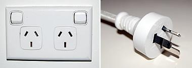 Australian power outlet