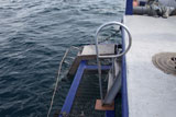 Dive platform on MV Windward at Bikini Atoll