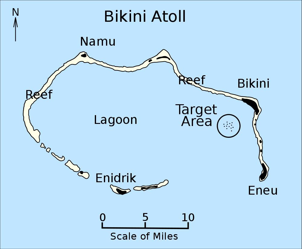 Bikini attol tests naval results