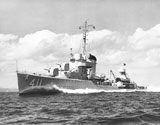 USS Anderson (DD-411) destroyer running trials in 1939
