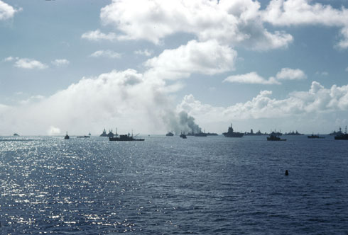 Operation Crossroads target fleet in Bikini Lagoon