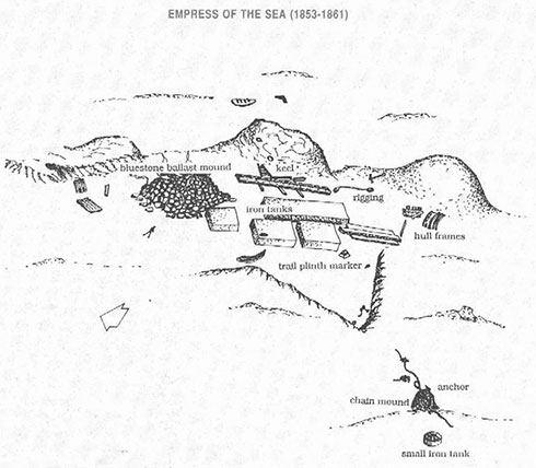 Empress of the Sea Dive Site Map