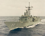 HMAS Canberra port side