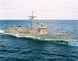 HMAS Canberra exercising in the Indian Ocean