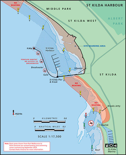 St Kilda Harbour Map