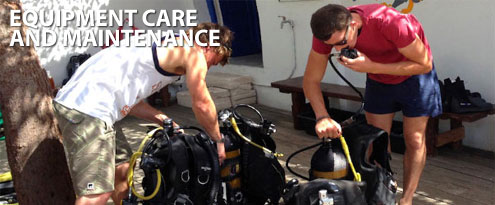 Scuba Diving Equipment Care and Maintenance