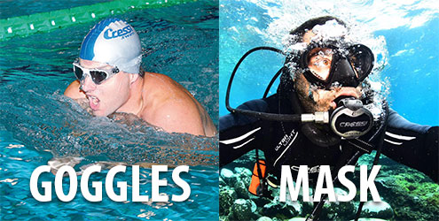 Goggles vs Masks from The Scuba Doctor