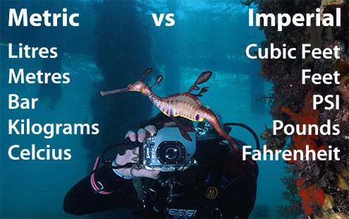 Metric vs Imperial Diving