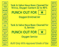 Oxygen Clean In Test Sticker