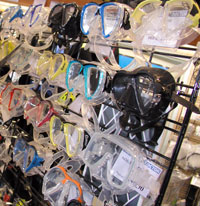 Huge range of masks at The Scuba Doctor
