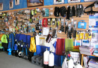 "The ""Wall of Temptation"" at The Scuba Doctor"