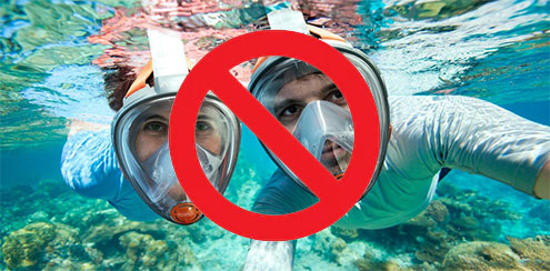 Full Face Snorkel Mask Dangers