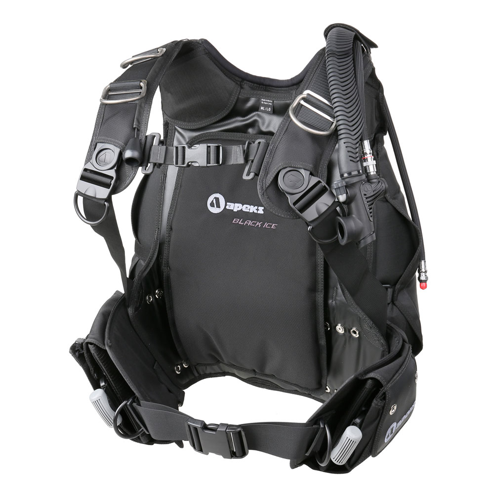 Apeks black ice bcd rear inflation the scuba doctor - Apex dive gear ...
