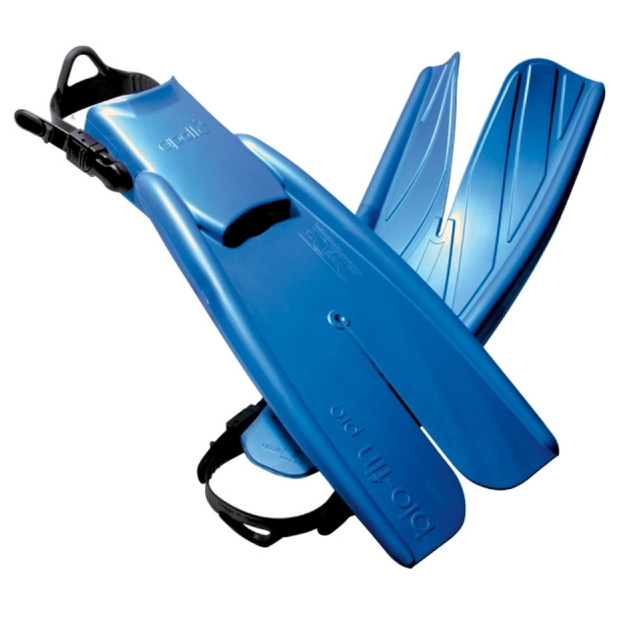 Apollo Bio-Fin Pro with Rubber Straps - Metallic Blue
