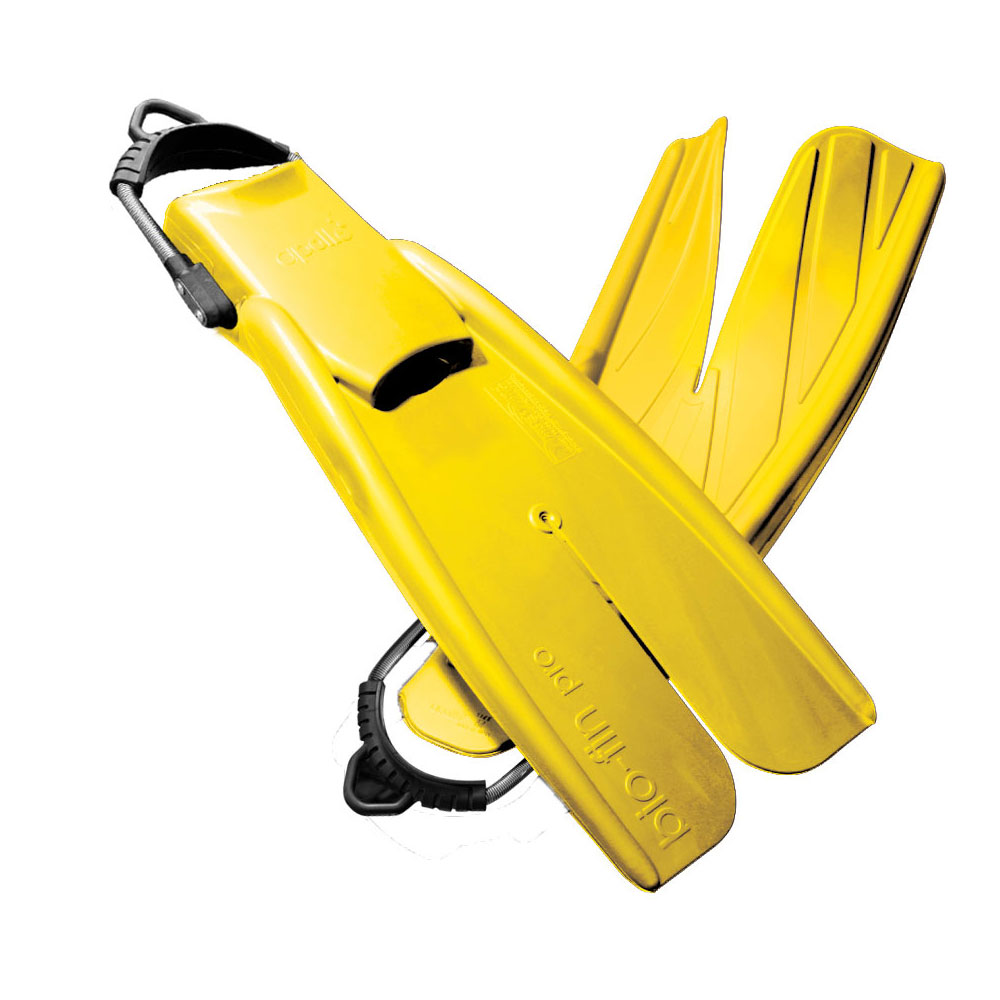 Apollo Bio-Fin Pro Fins with Spring Straps (Yellow) Free Offer