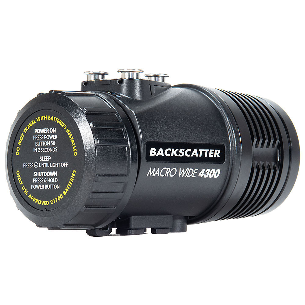 Backscatter Macro Wide 4300 Underwater Video Light - 4300LM - Click Image to Close