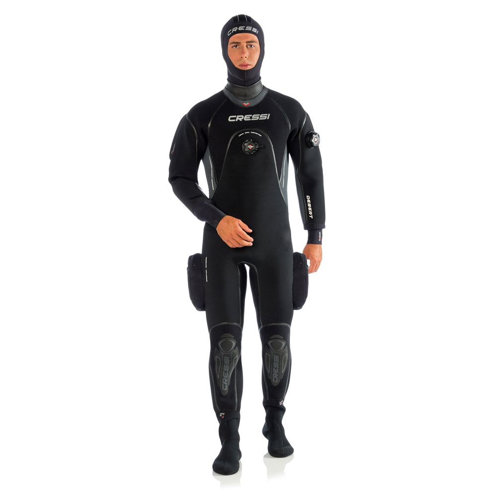 Cressi Desert 4 Mm Neoprene Drysuit With Hood - Mens