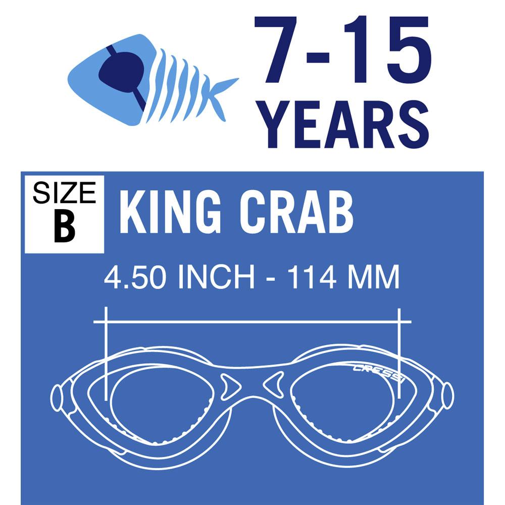 b121f46ba4 Cressi King Crab Swim Goggles (7-15 Years)