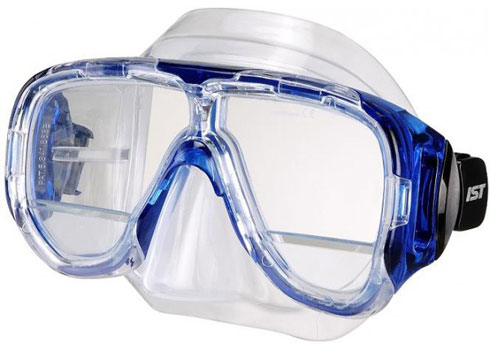 Dive mask with bifocal lenses
