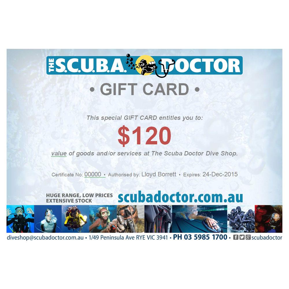 The Scuba Doctor Gift Certificate The Scuba Doctor Dive Shop