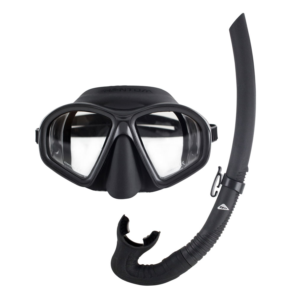3112f3c3fa40 Ocean Hunter Phantom Mask and Snorkel Set - The Scuba Doctor Dive Shop