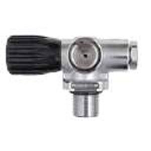 OMS 300 Bar DIN Low Profile Valve with Plug - Diver's Right
