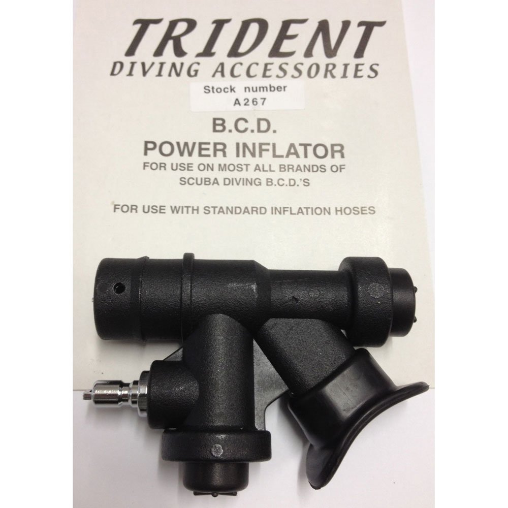 BCD Power Inflator Unit - Trident 45 Degree Angled Mouthpiece