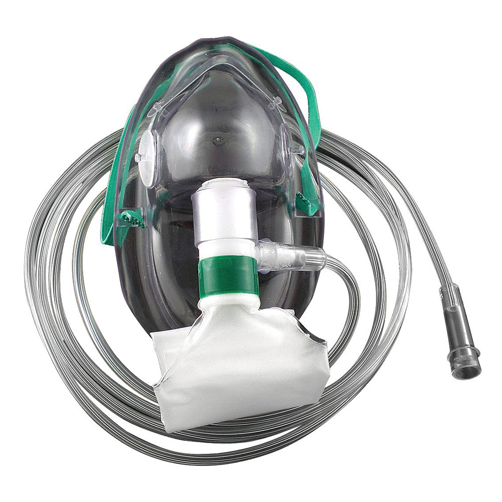 Hudson Non-Rebreather Adult Oxygen Mask with Reservoir Bag