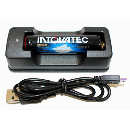 Intovatec Li-Ion Battery Charger and 18650 Battery Kit