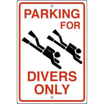 Trident Parking For Divers Only Street Sign