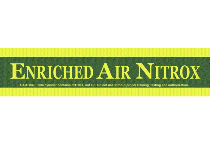 Enriched Air Nitrox - Large Cylinder Sticker