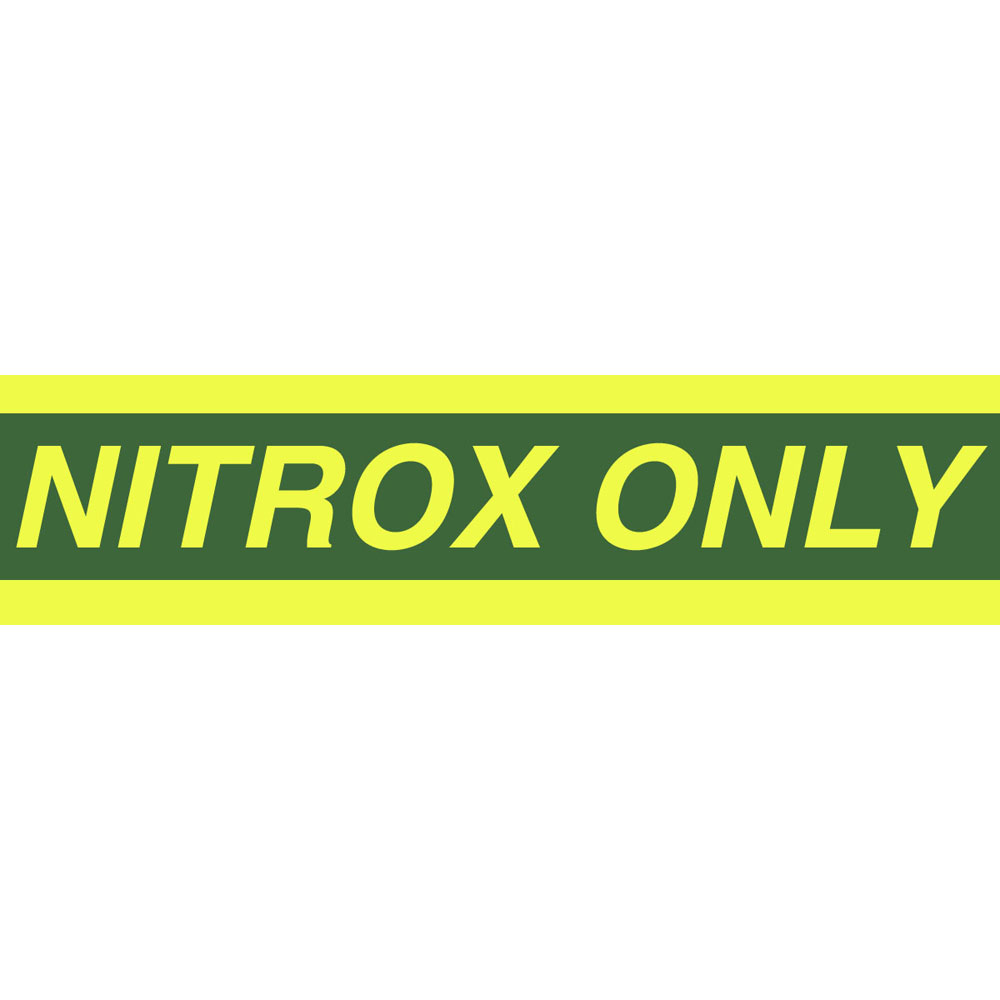 Nitrox Only - Small Cylinder Sticker