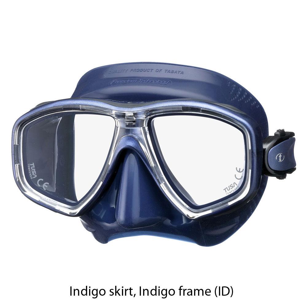 Tusa Freedom Ceos Mask Scuba Diving FreeDiving Snorkeling FT Blue M-212-FB