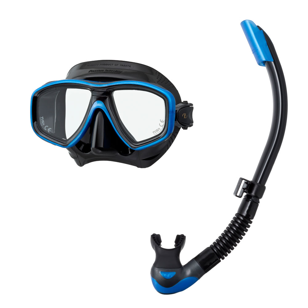 Tusa Freedom Ceos Mask and Platina II Hyperdry Snorkel Set