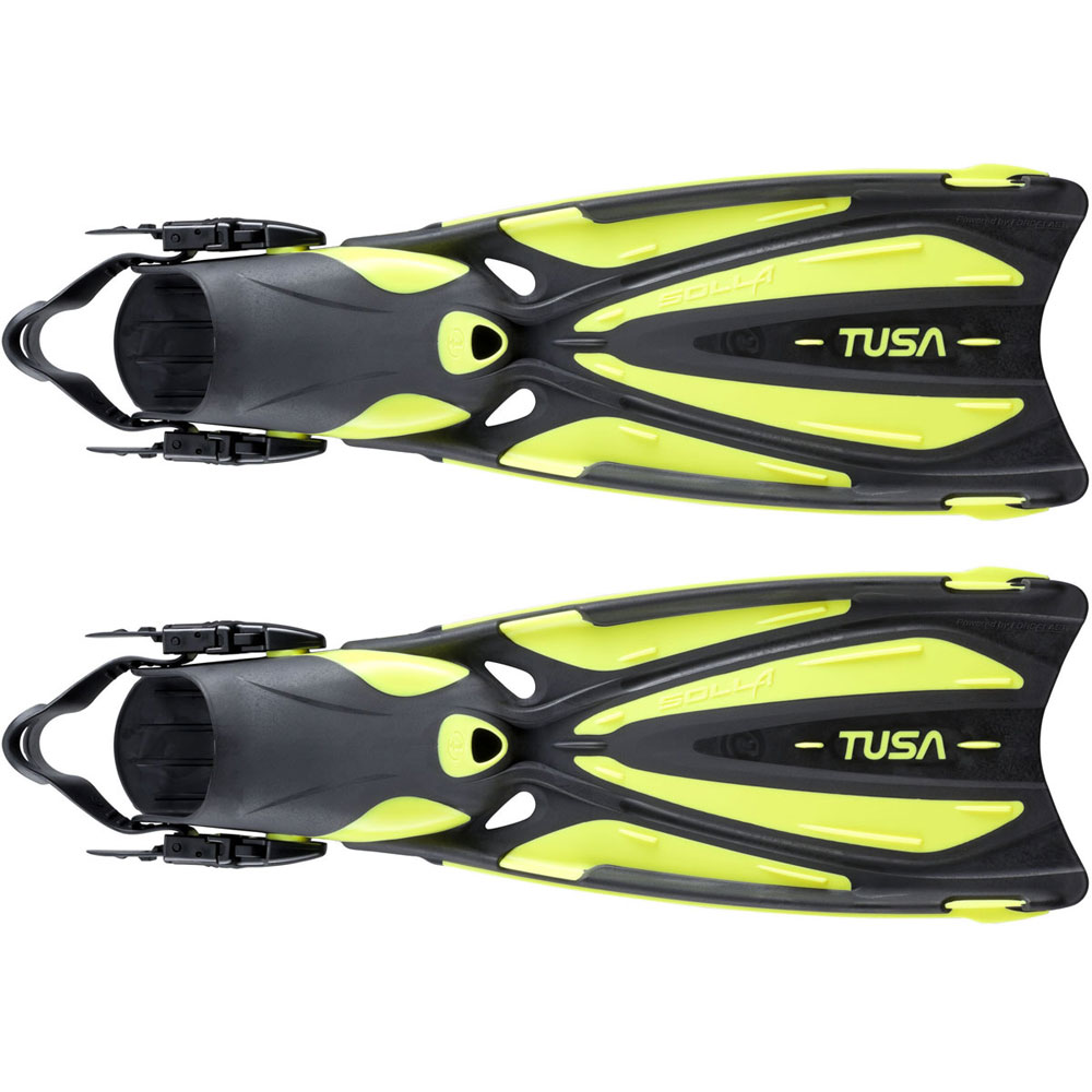 Tusa solla open heel fins the scuba doctor dive shop for Dive system tech fin